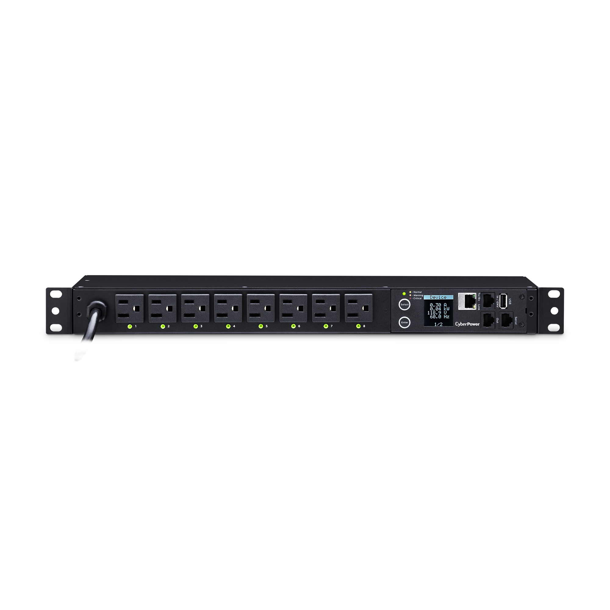 Load switching power strip