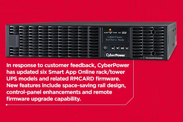 CyberPower Upgrades 1,000 VA to 3,000 VA Online UPS Models