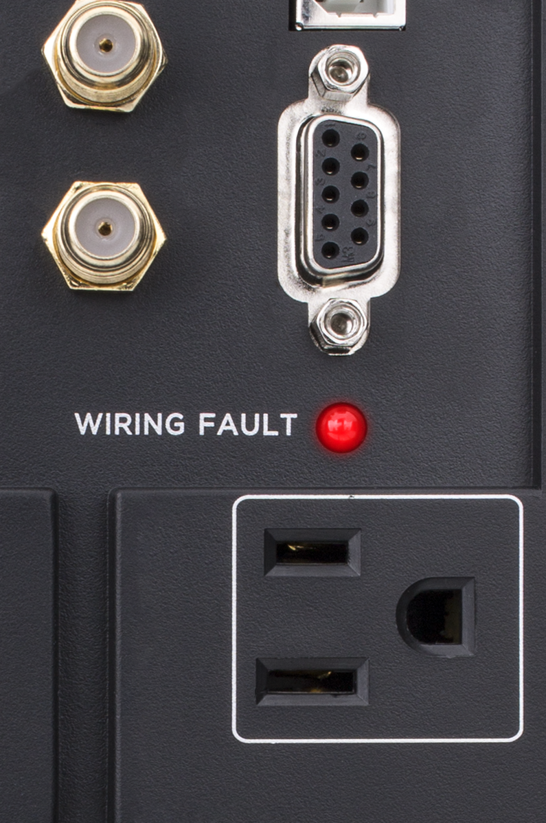What does the Wiring-Fault Indicator light mean? | CyberPower