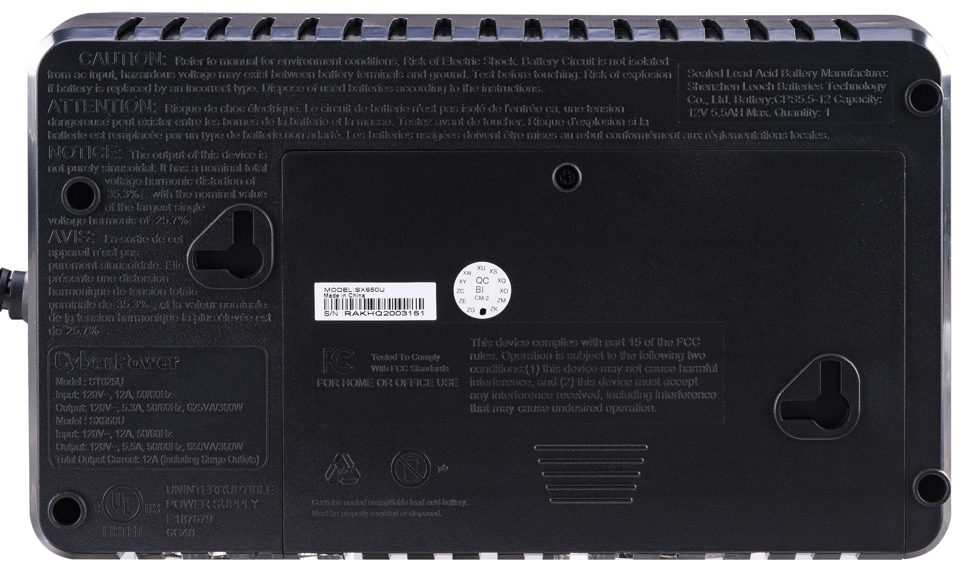 SX650U Serial Number