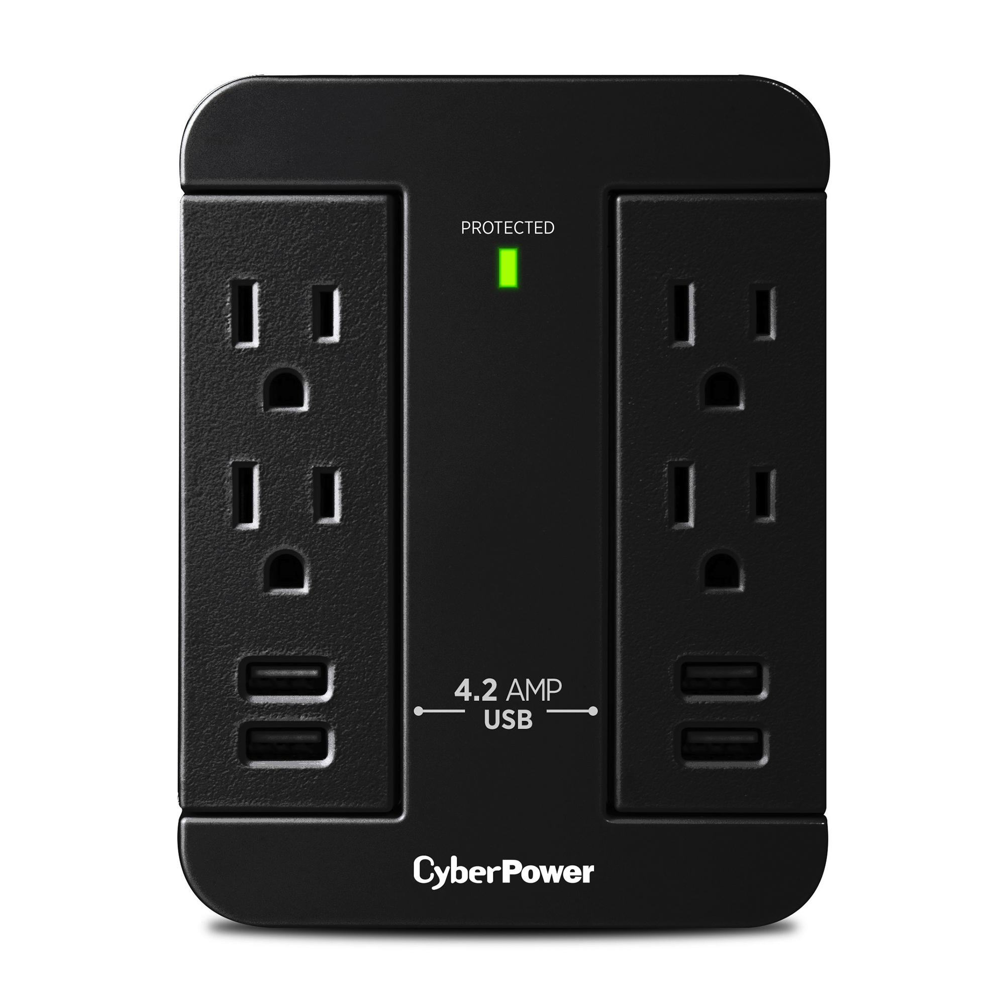 CyberPower GT600P 6 Outlet Swivel Grounded Wall Tap