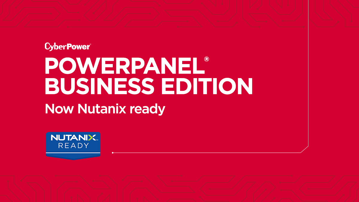 PowerPanel Business & Nutanix Graphic